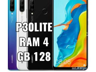 P30 LITE 4 Ram 128 GB مستعمل اصلي مكفول ملحقات : شاحن _ سماعة