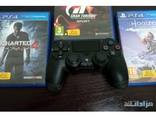 يد تحكم PS4 كوبي +3 العاب مستعمل