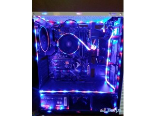 Pc amd Ryzen full RGP +هدية