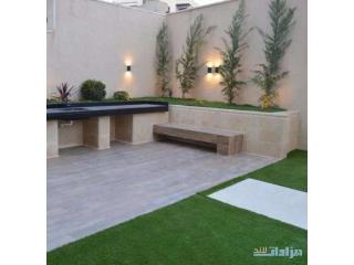 شقة شبه ارضي جديده للبيع - ضاحية النخيل - مساحة 200م مع حديقة 150م