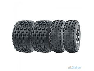 Set of 4 WANDA Sport ATV Tires AT 19x7-8 Front & 20x10-9 Rear