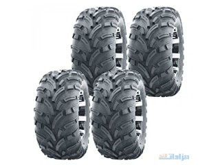 Set of 4 WANDA ATV UTV Tires 26x10-12 26x10x12 6PR Lit Mud &hellip