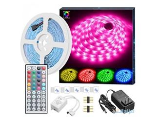 MINGER LED Strip Lights, 16.4ft RGB LED