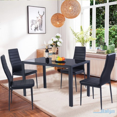 costway-5-piece-kitchen-dining-set-glass-metal-table-and-4-chairs-breakfast-furniture-big-0