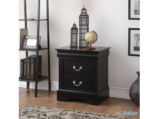 Acme Furniture Louis Phillipe III 2-Drawer Nightstand, Black
