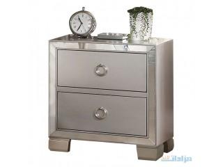 Acme Furniture Voeville II Platinum Nightstand