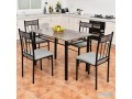 costway-5-piece-faux-marble-dining-set-table-and-4-chairs-kitchen-breakfast-furniture-small-0