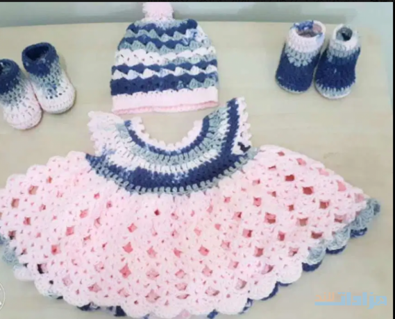 a-beautiful-newly-made-for-new-born-crochet-dress-set-for-baby-girl-big-0