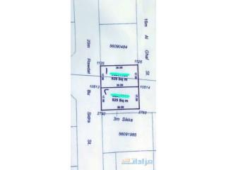 ارض للبيع ابوهامور 525م على شارعين