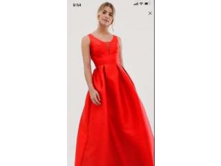 فستان سهرة احمر fire red dress