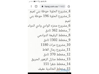 حجز اراضي سكنيه في مخططات المتوفره بالصوره